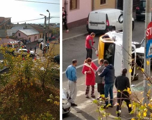 accident grav taxi rasturnat drobeta
